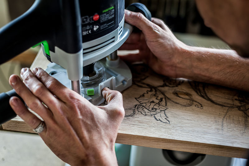 Shaping with the Festool router OF 1010