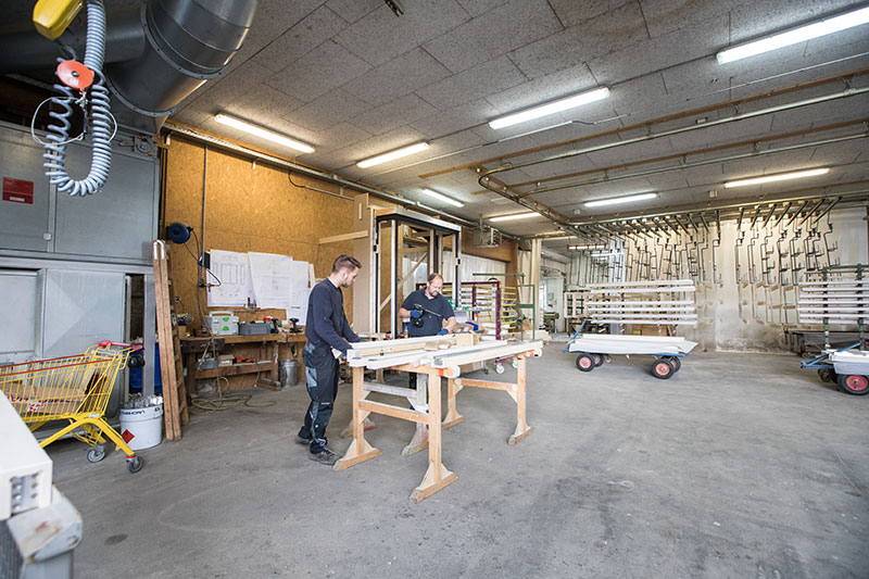 The workshop of VHB woodworking